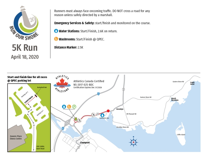 DD-19-311 Run Our Shore route maps 5K final
